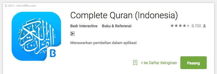 Complete Quran (Indonesia)