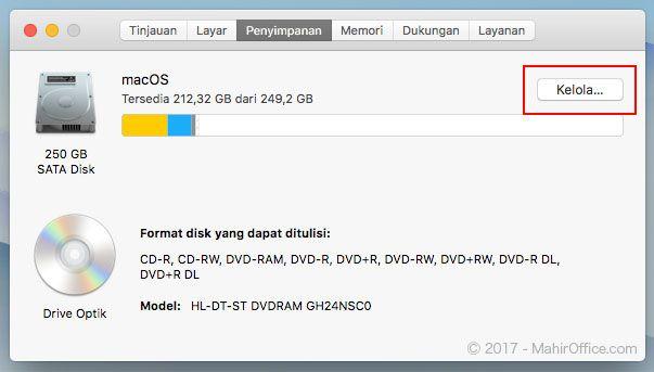 Kelola penyimpanan pada macOS