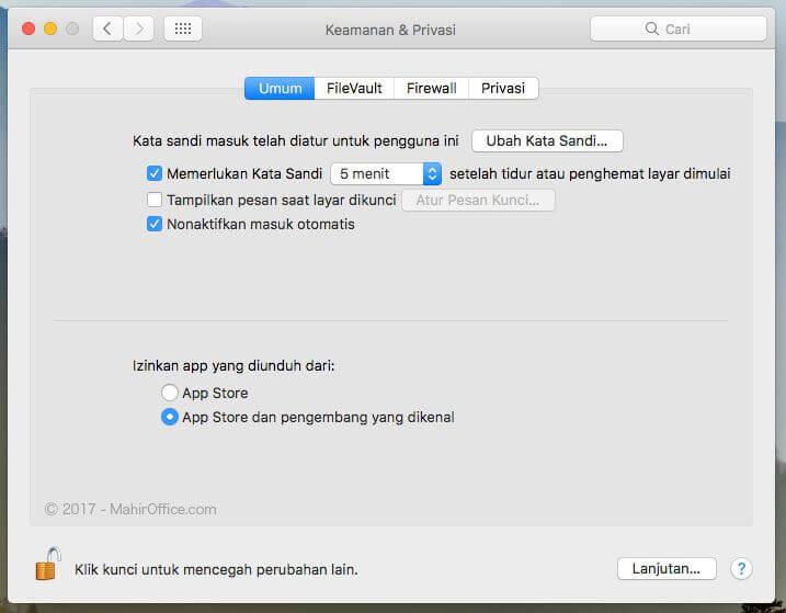 Cara install aplikasi pada macOS Sierra