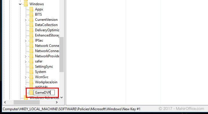 Menonaktifkan GameDVR pada Windows 10