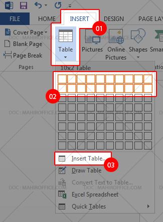 Cara menambahkan tabel pada Word
