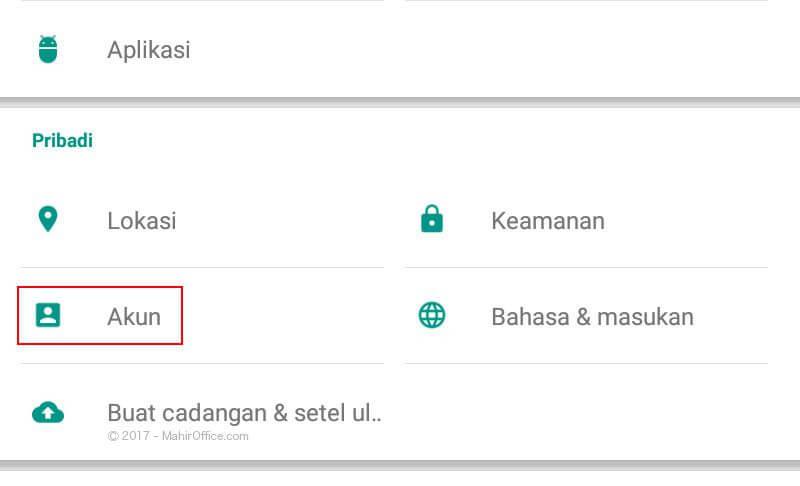 Cara menghapus Akun dari Android