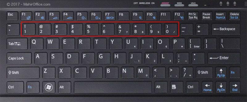Memperbaiki Angka pada Keyboard Error