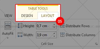 Mengatur tabel pada Word