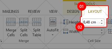 Cara Mengatur tinggi rows pada tabel