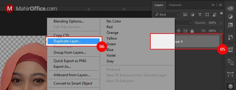 Cara duplikat layar pada Photoshop