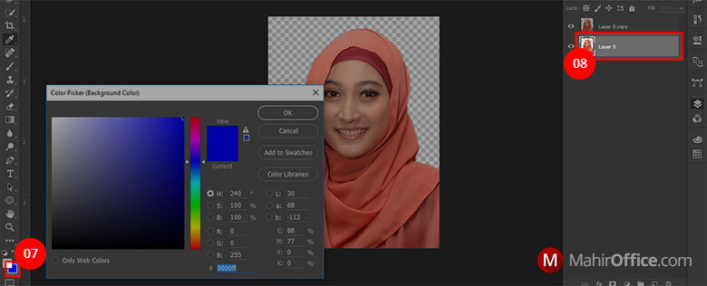 Cara merubah latar foto pada Photoshop