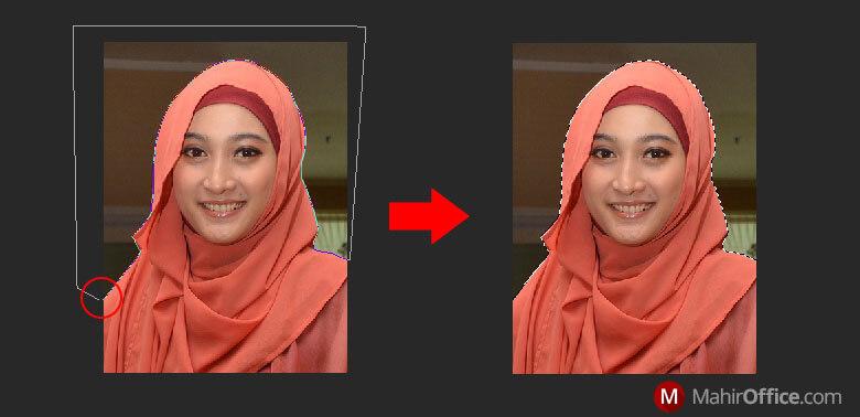 Hasil seleksi foto pada Photoshop