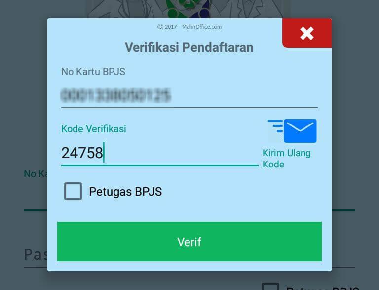 Verifikasi pendaftaran BPJS Kesehatan
