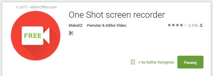 One Shot screen recorder