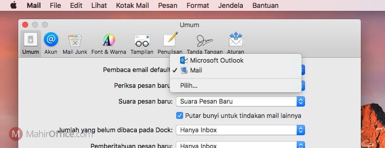 Cara merubah aplikasi email default pada macOS