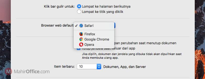 Cara merubah browser default pada macOS