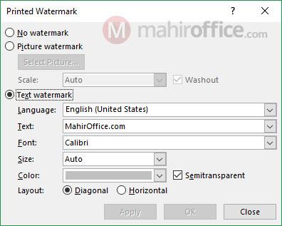 cara membuat watermark pada word