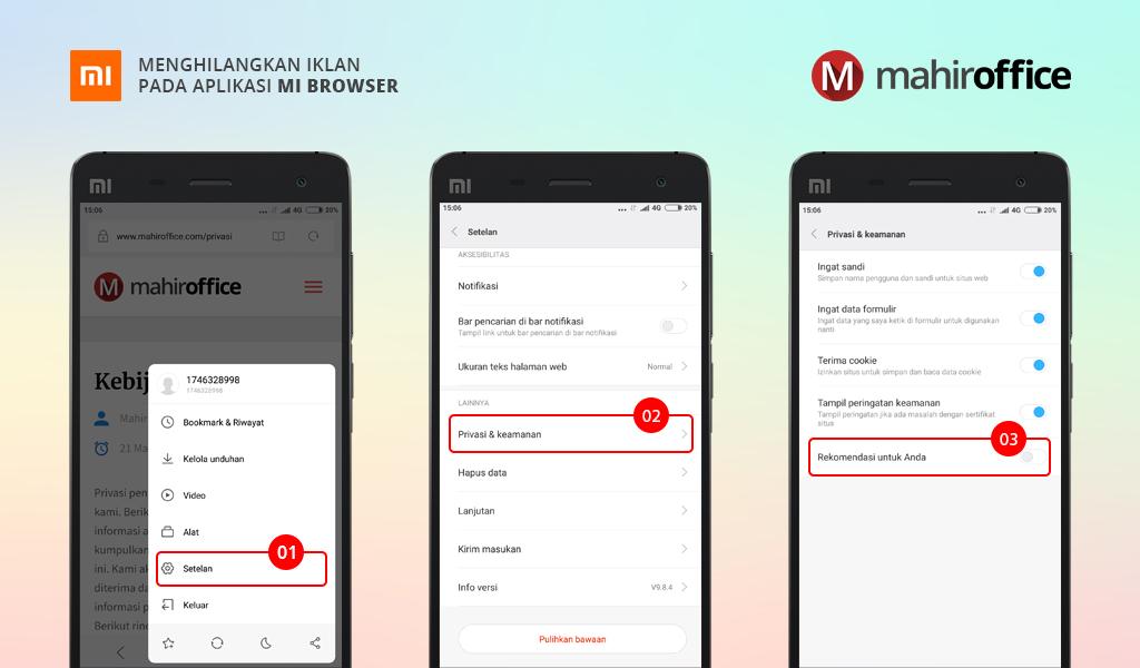 Menghilangkan Iklan pada Aplikasi Mi Browser