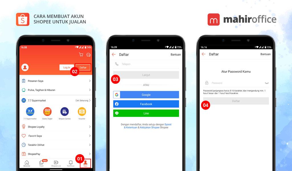Cara Membuat Akun Shopee Untuk Jualan Di Hp Android Atau Iphone