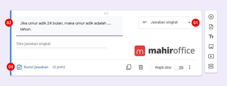 Cara membuat Soal Esai di Google Form