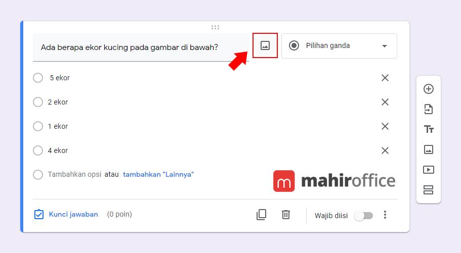 Cara menambahkan gambar pada Google Form