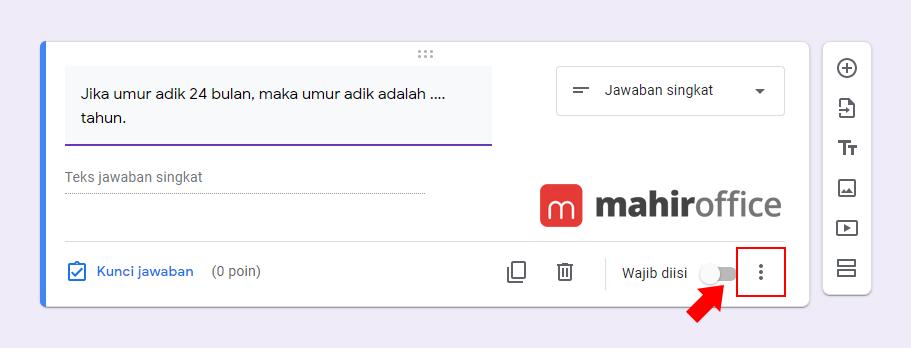 Cara menambahkan validasi pada Google Form