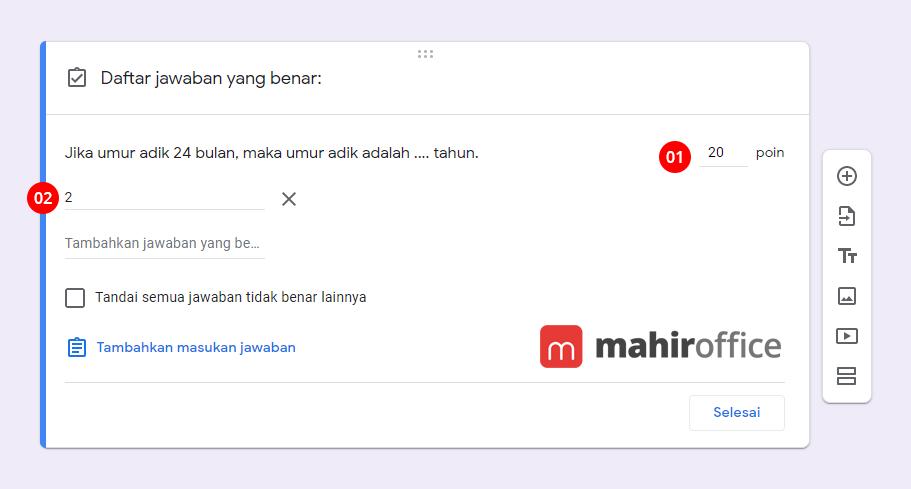 Cara mudah membuat Soal Esai pada Google Form