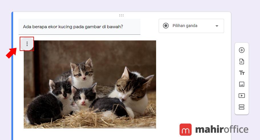 Mengatur gambar pada Google Form