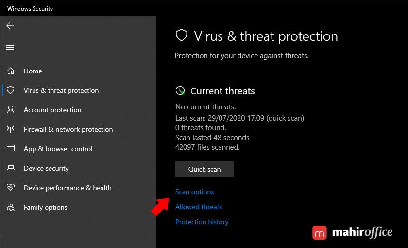 cara melakukan scan malware pada windows 10